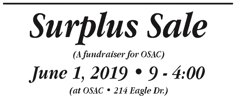 Surplus Sale Fundraiser
